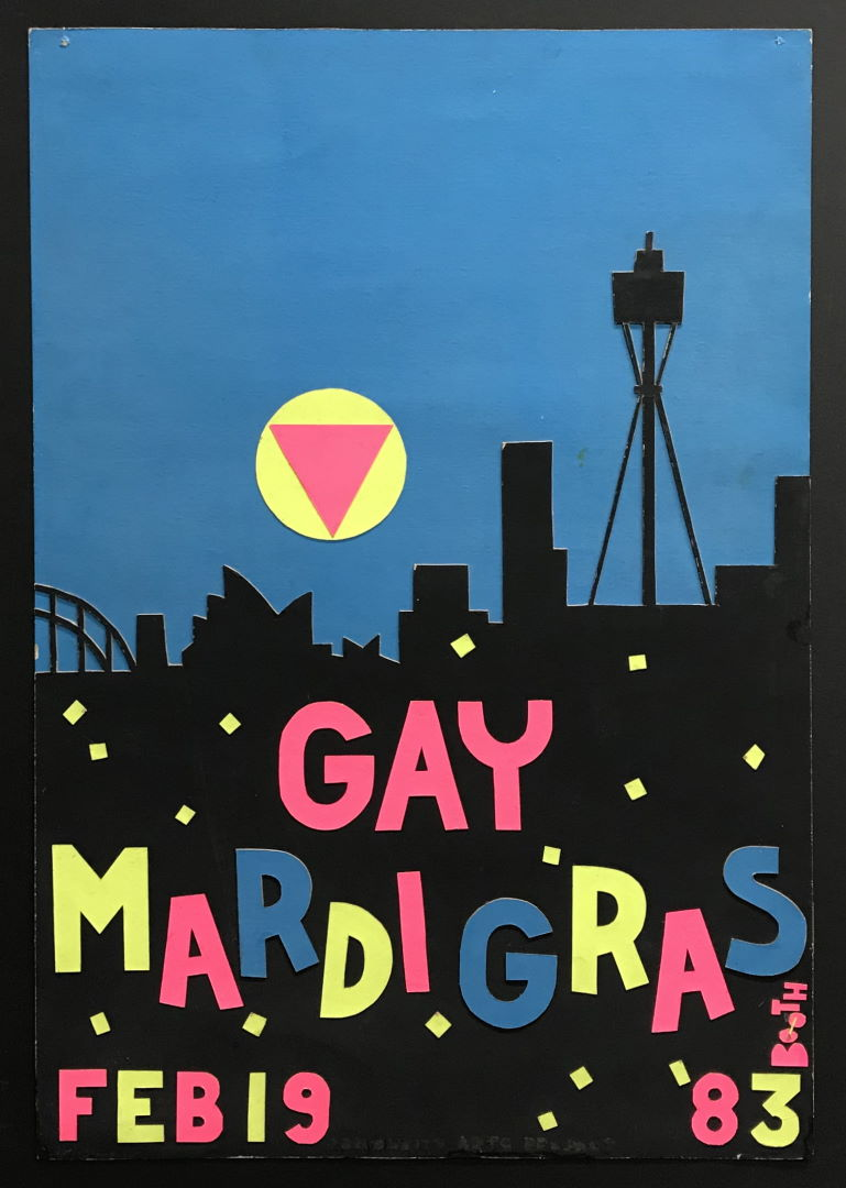 Design for the Gay Mardi Gras - Allan Booth, 1983, Grant Kilby Collection