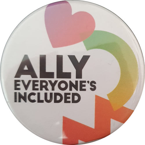 Ally - everyone's included badge, courtesy Graham Willett collection